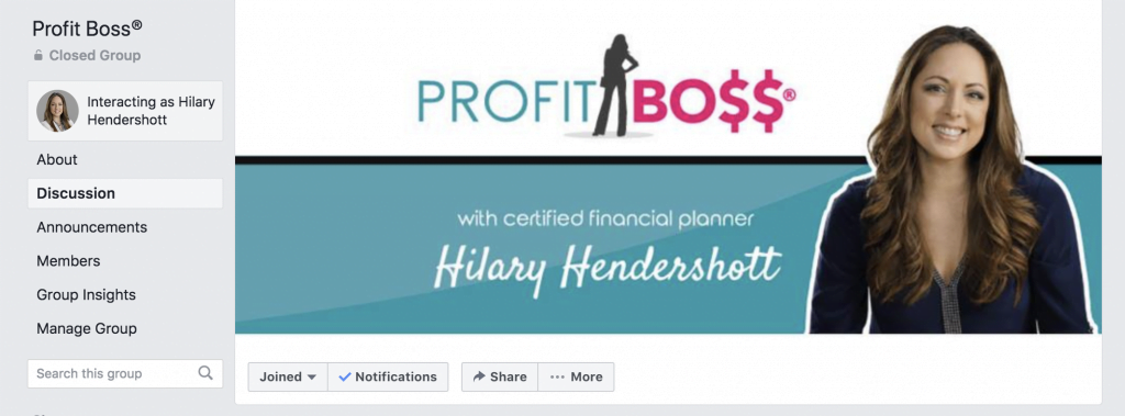 Profit Boss® Facebook Group